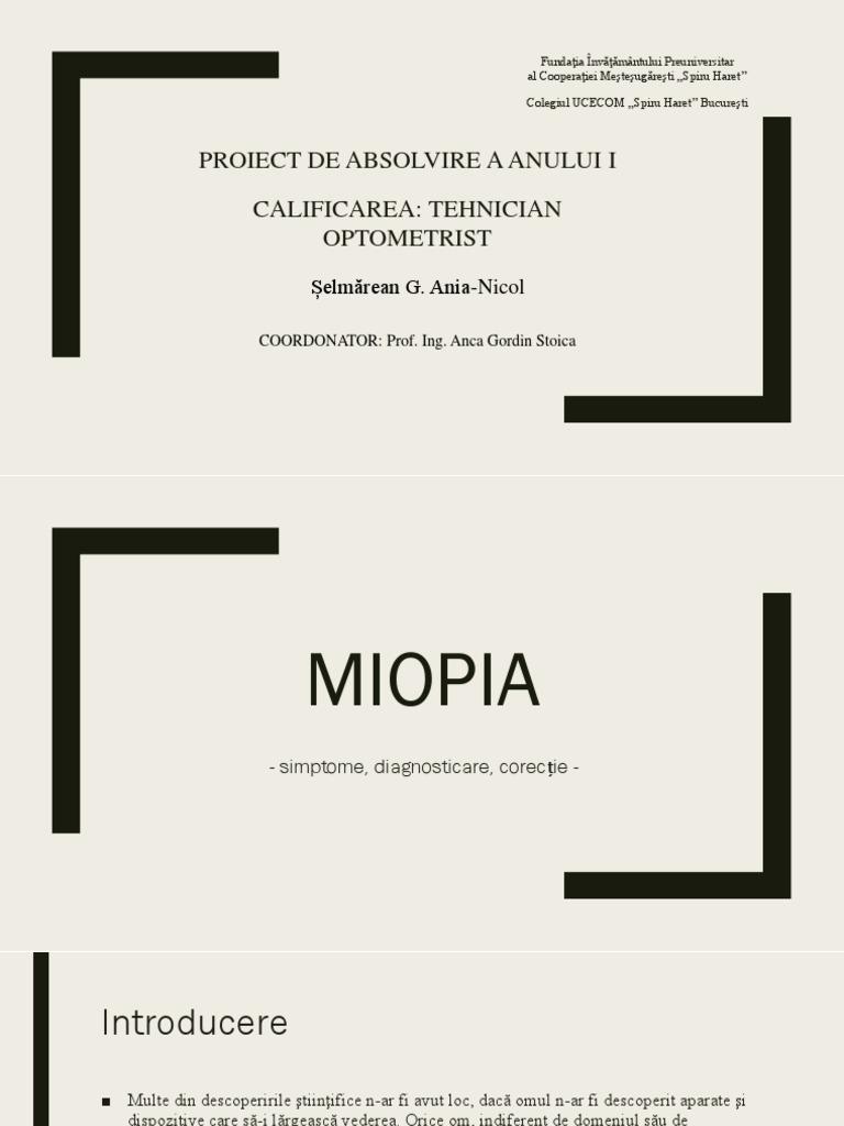 Ce este Miopia ? - Dr. Marioara Pop