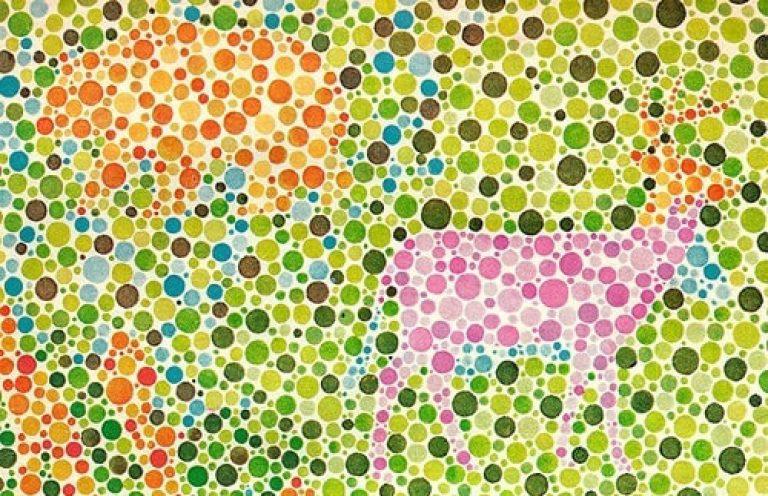 masă de testare a orbirii culorilor
