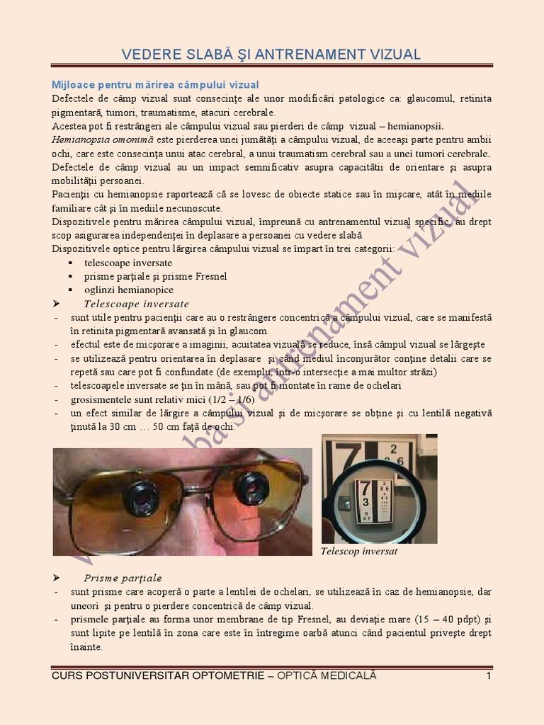 Norma de vârstă a acuității vizuale