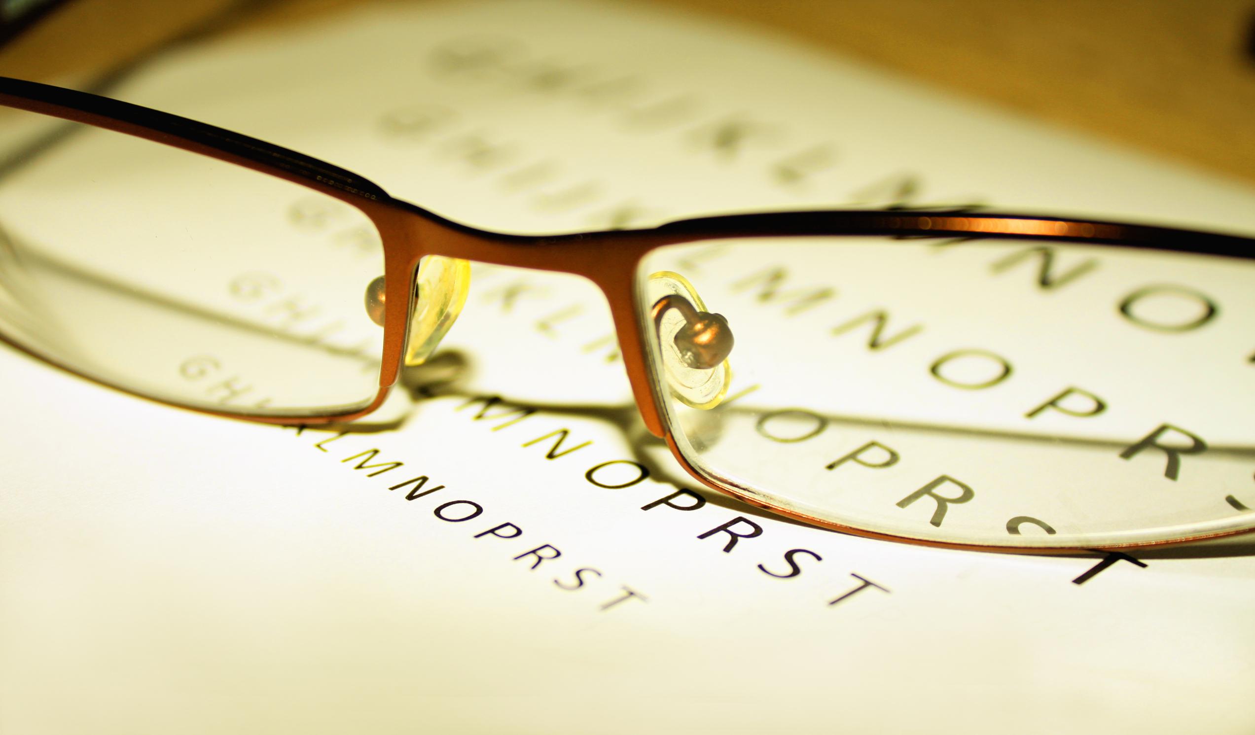 vedere slabă și vedere bună