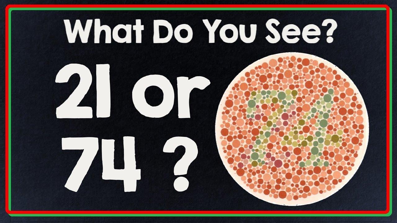74 test de vedere