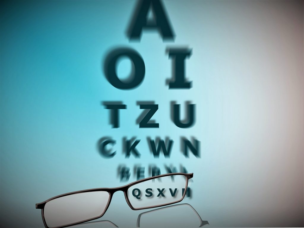 teste sau aveți o vedere slabă
