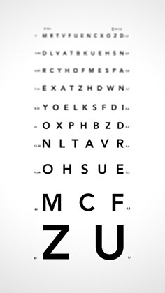 tabele de testare a viziunii astigmatismului