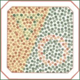 masă de testare a orbirii culorilor vedere slabă și luptă corp la corp