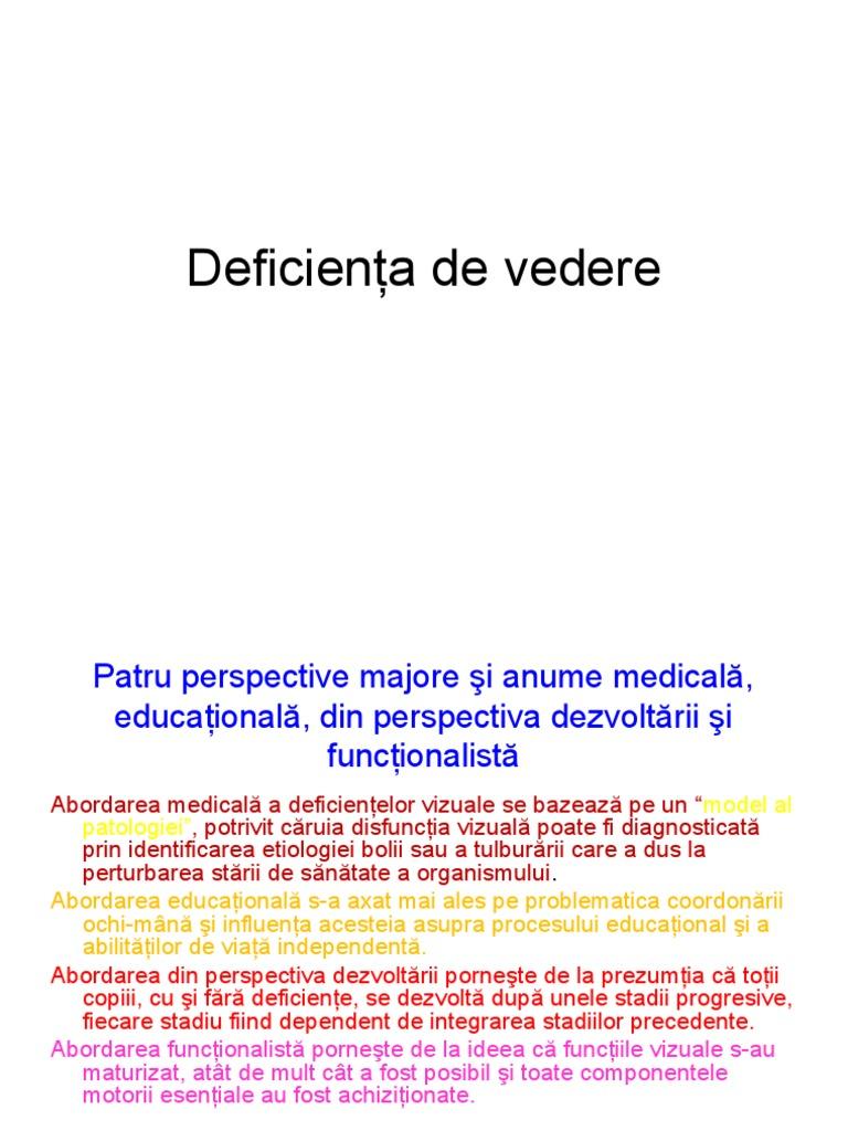 deficiență vizuală etapă