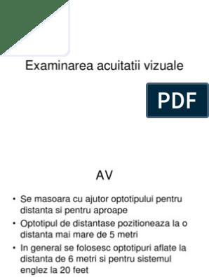 acuitatea vizuală 30