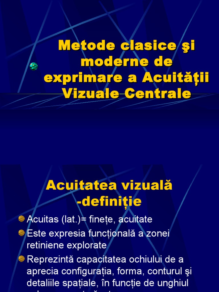 indicatori de acuitate vizuală
