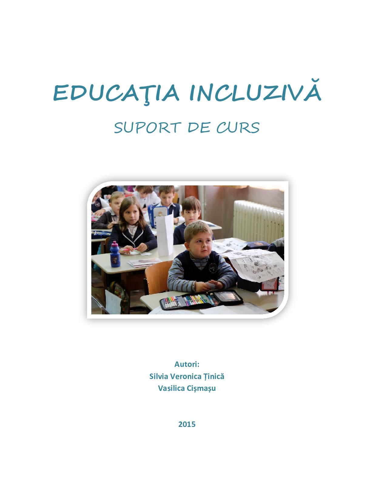 Educație incluzivă pentru copiii cu deficiențe de vedere în scaun
