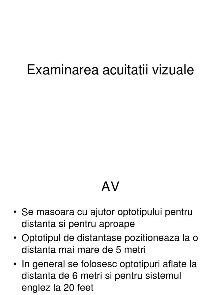 Tabel pentru testarea acuității vizuale în oculist