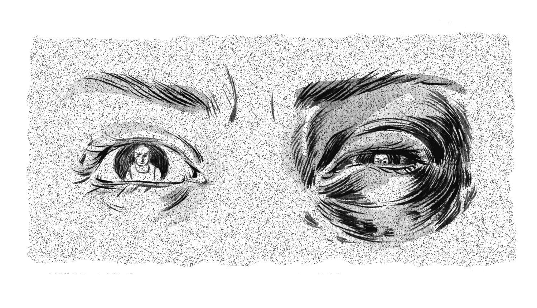 viziunea unui ochi a căzut după
