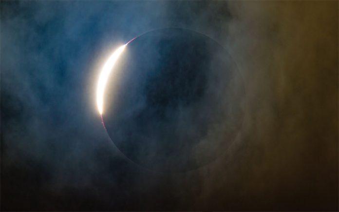 vedere deteriorată în timpul unei eclipse