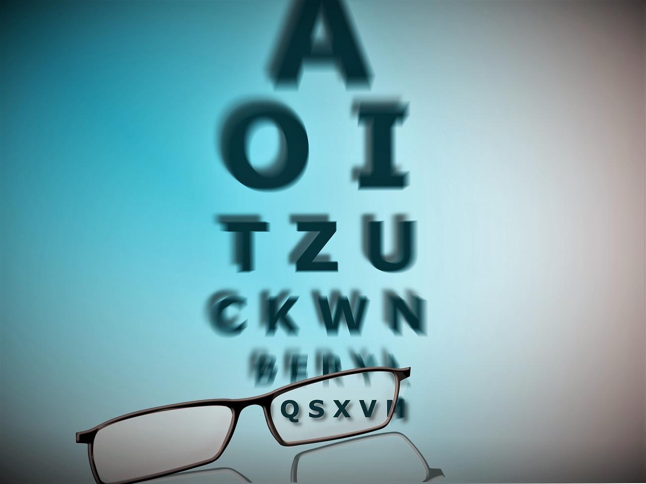 test de vedere miopie sau hipermetropie